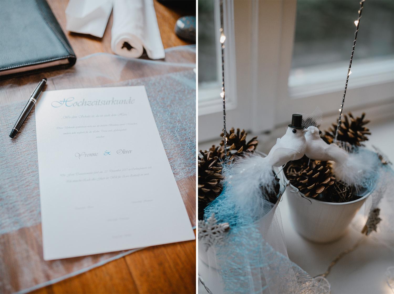 Winter Hochzeit Dekoration