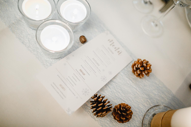 winterliche Hochzeitsdekoration