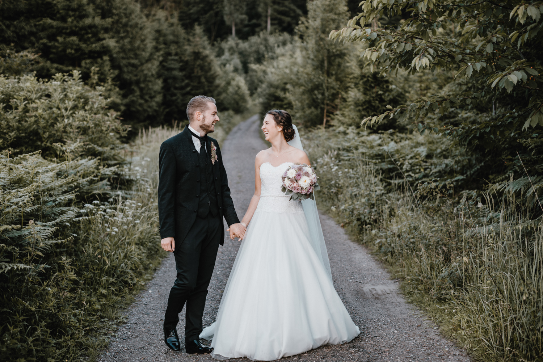 After-Wedding-Shooting mit Rauchbomben